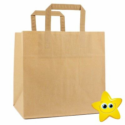Medium Size Brown Kraft Craft Paper Sos Carrier Bags