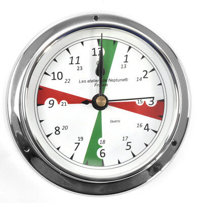Silent Area Clock  - Polished Brass / Chromed / Varnished C12H 1000S - CH 115 x