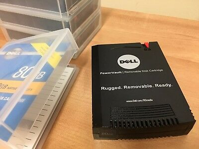 Dell 80GB RD1000 Hard Disk Data Cartridge PowerVault Removable