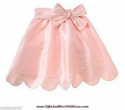 Gymboree NWT Pink SILK LUXE PARTY HOLIDAY SCALLOPED SKIRT BOTTOM 5T 5 Years