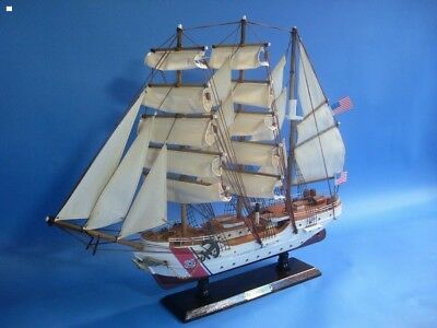 """24"""" Hampton Nautical USCG Eagle Navy Tall Ship Handcrafted wooden High quality"""