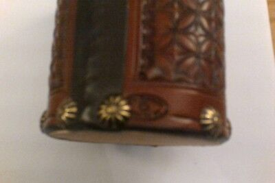 Ultra Rare Super High Quality Leather Desk Accessory By Jeff Morrow Niarada Mont