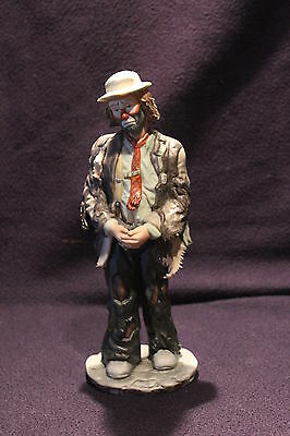 Flambro Emmett Kelly Jr Signature Collection 9725 Hands Folded SIGNED