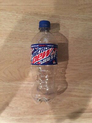 Mountain Dew S.A. Code Red,White Out, 20oz Empty Soda Bottle (rare)