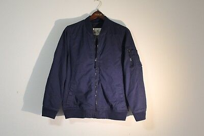 NWT Men Hollister by Abercrombie twill Bomber jacket XL Navy
