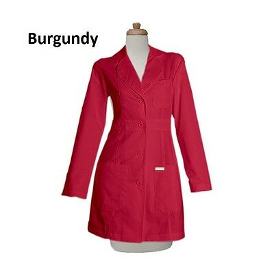 FREE PERSONALIZATION Gesture Women 34 inch Two Pocket Colored Lab Coats