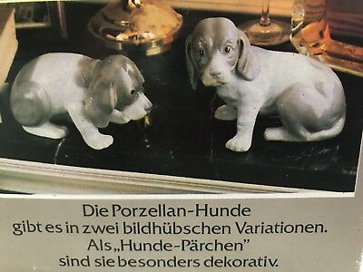 Vintage Pair of German Porcelain Hounds (dogs)
