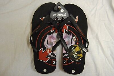 Motorhead Warpig Beach Sandals Flip Flops New Official Lemmy Ace Of Spades Rare