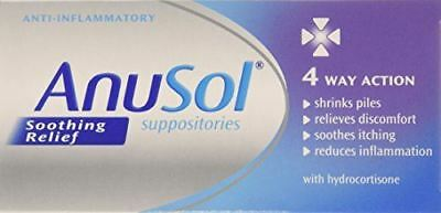 6 Packs of Anusol Soothing Relief Suppositories 12 Suppositories