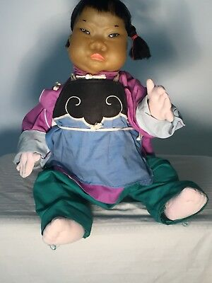 Chinese Peasant Girl Doll by Michael Lee, Hong Kong's Iconic Doll Maker