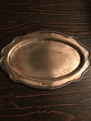 "Vintage L.B.S. CO Lawrence B. Smith Silver Tray  16"" x 11"""