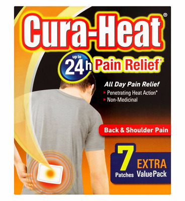 Cura-heat Pain Relief 24 hour All day pain relief back and shoulder pain