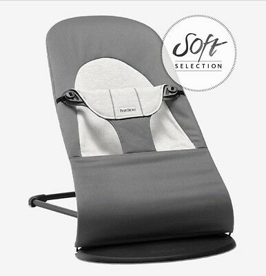Baby Bjorn Baby Balance Soft Bouncer COLOR Dark Gray Used One Time/ Unwash