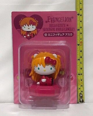 Adorable Sanrio Smiles Evangelion Hello Kitty Asuka Langley mini figure 2.5""