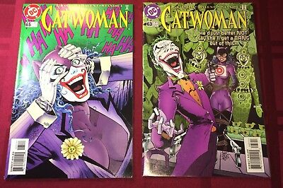 Catwoman #63 VF/NM & #65 VF Lot! with The Joker! FREE US SHIPPING!