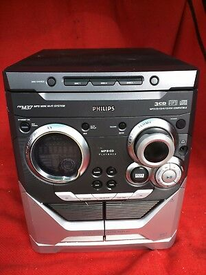 Philips FWM37/25 MP3 Mini Hi-Fi System CD Changer Tuner Tape Cassette For Parts