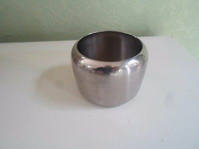 Vintage Retro OLD HALL Stainless Steel Sugar Bowl - Modernist     §3