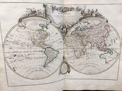 "1762 ATLAS MODERN FIRST ED RIGOBERT BONNE'S ''36 Maps""AMERICA,EUROPE,ASIA,AFRICA"