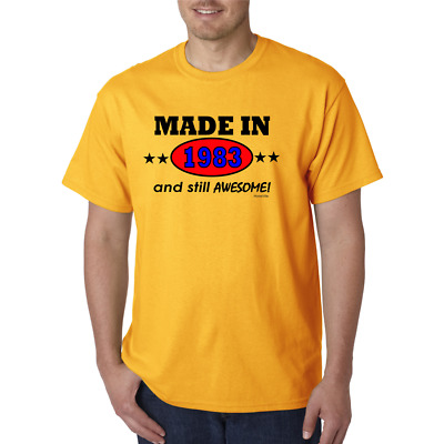 Made In 1983 And Still Awesome Born Birthday Gildan Short Sleeve T-shirt