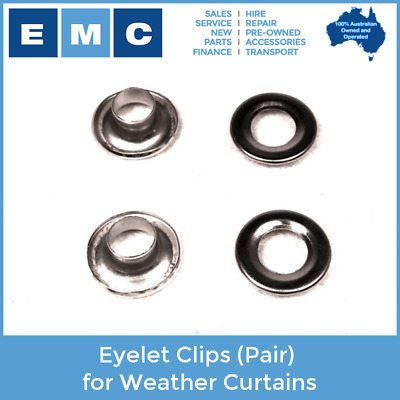 Eyelet Clips (2 Clips) to Suit All Golf Cart Weather Curtains