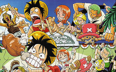 Poster A3 One Piece Luffy Pirates Títeres / Puppet Manga Anime Cartel Decor