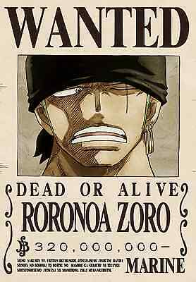 Poster A3 One Piece Ronoroa Zoro Recompensa Cartel Se Busca Wanted New Bounty