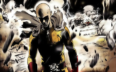 Poster A3 One Punch Man Saitama Manga Anime Cartel 01