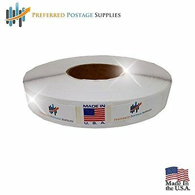"Preferred Postage Supplies White 1"" Wafer Seals 500 Tabs Per Roll USPS Approved"