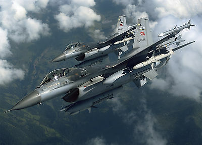 Poster A3 F-16 Fighting Falcon Avion Plane Guerra War