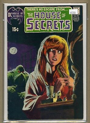 House of Secrets #92 (1971, DC) NICE 6.5 FN+ OW/WHITE 1st Swamp Thing WRIGHTSON