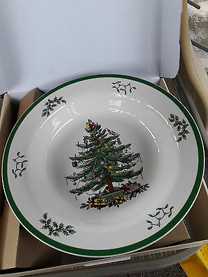 """Spode Christmas Tree 12"""" ROUND SERVING TRAY New In Box."""