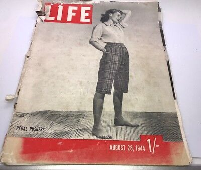 Vintage Antique 40's LIFE Magazine August 28 1944 – Old Ads