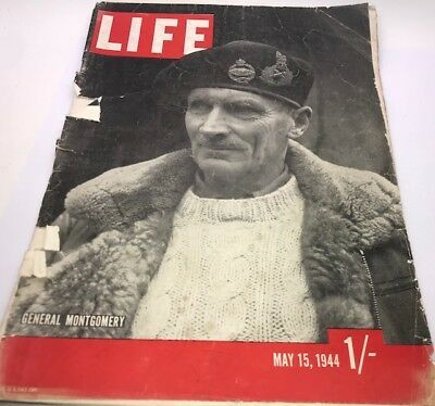Vintage Antique 40's LIFE Magazine May 15 1944 – Old Ads