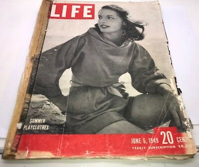 Vintage Antique 40's LIFE Magazine June 6 1949 – Old Ads