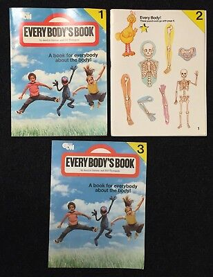 Vtg 1978 SESAME STREET Every Body's Book - A Book For Everybody About The Body