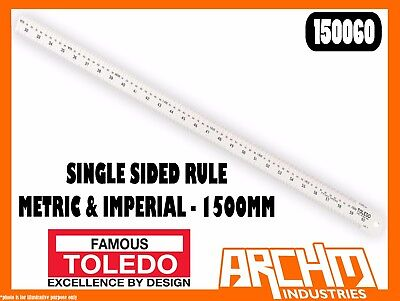 150mm 150A6 TOLEDO Stainless Steel Single Sided Rule Metric /& Imperial