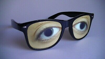 Smiffys Comedy Droopy Eye Glasses Novelty Specs Mens Ladies Fancy Dress Hen Stag