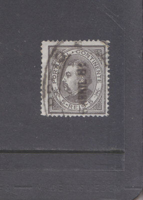 PORTUGAL-1880-KING LUIZ-5R BLACK-SG 178-FINE USED-$6-freepost
