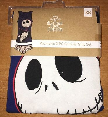 Disney The Nightmare Before Christmas Women's 2-PC Cami & Panty Set XS S M New