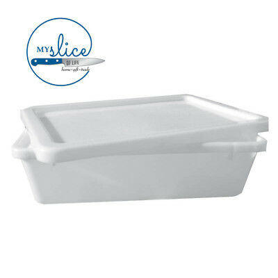 13LT Stack/Mixing Tub And Lid 43 x 32 x 13cm Deep - Butcher, Sausage Making.