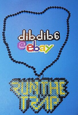 Run the Trap necklace kandi rave perler edm edc PLUR sprite hama melty art
