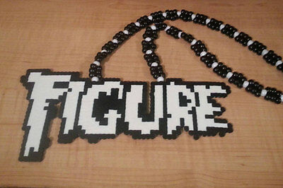 Figure perler art necklace rave melty edm edc sprite hama plur