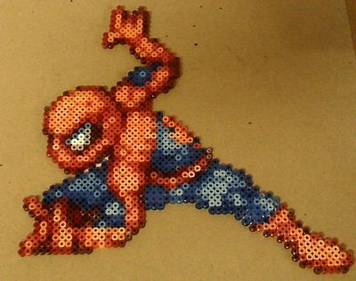 Spiderman perler art necklace rave kandi edm edc sprite hama plur melty