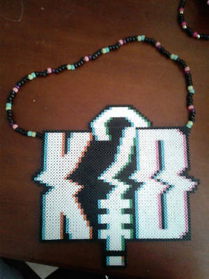 K?D perler art necklace rave melty edm edc sprite hama plur art festival