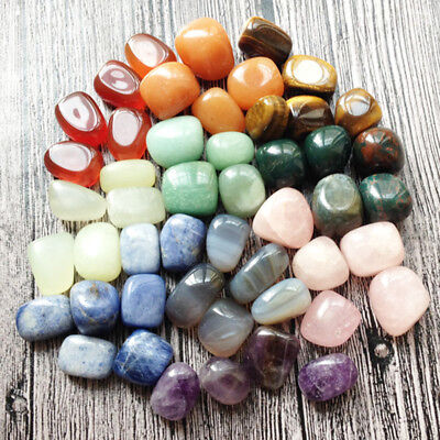 10x Mixed Colorful Natural Assorted Bulk Tumbled Gem Stone Home Decor