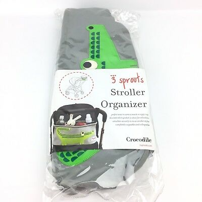 3 Sprouts Stroller Organizer Crocodile Gray Green New Gift Baby Shower Boy A3
