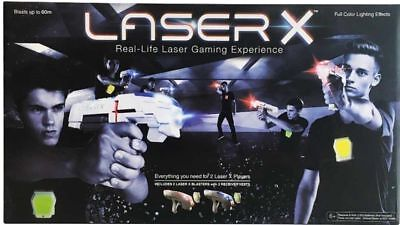LASER X Double Pack - Two Player Laser Tag Gaming Set 2 Player Toy Laser Guns