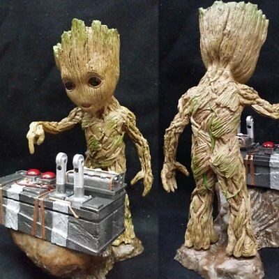 Hot Guardians of the Galaxy Vol. 2 Baby Groot Push Bomb Button  Figure Toy