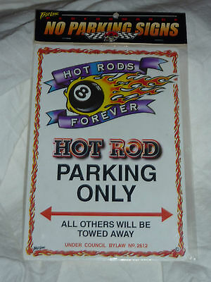 Hot Rod Parking Only Sign