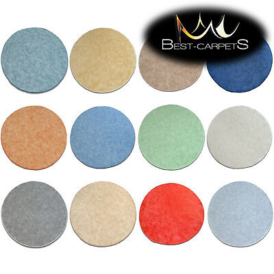 CHEAP & SOFT & QUALITY ROUND CARPETS 14 COLORS Feltback Bedroom RUGS ANY SIZE